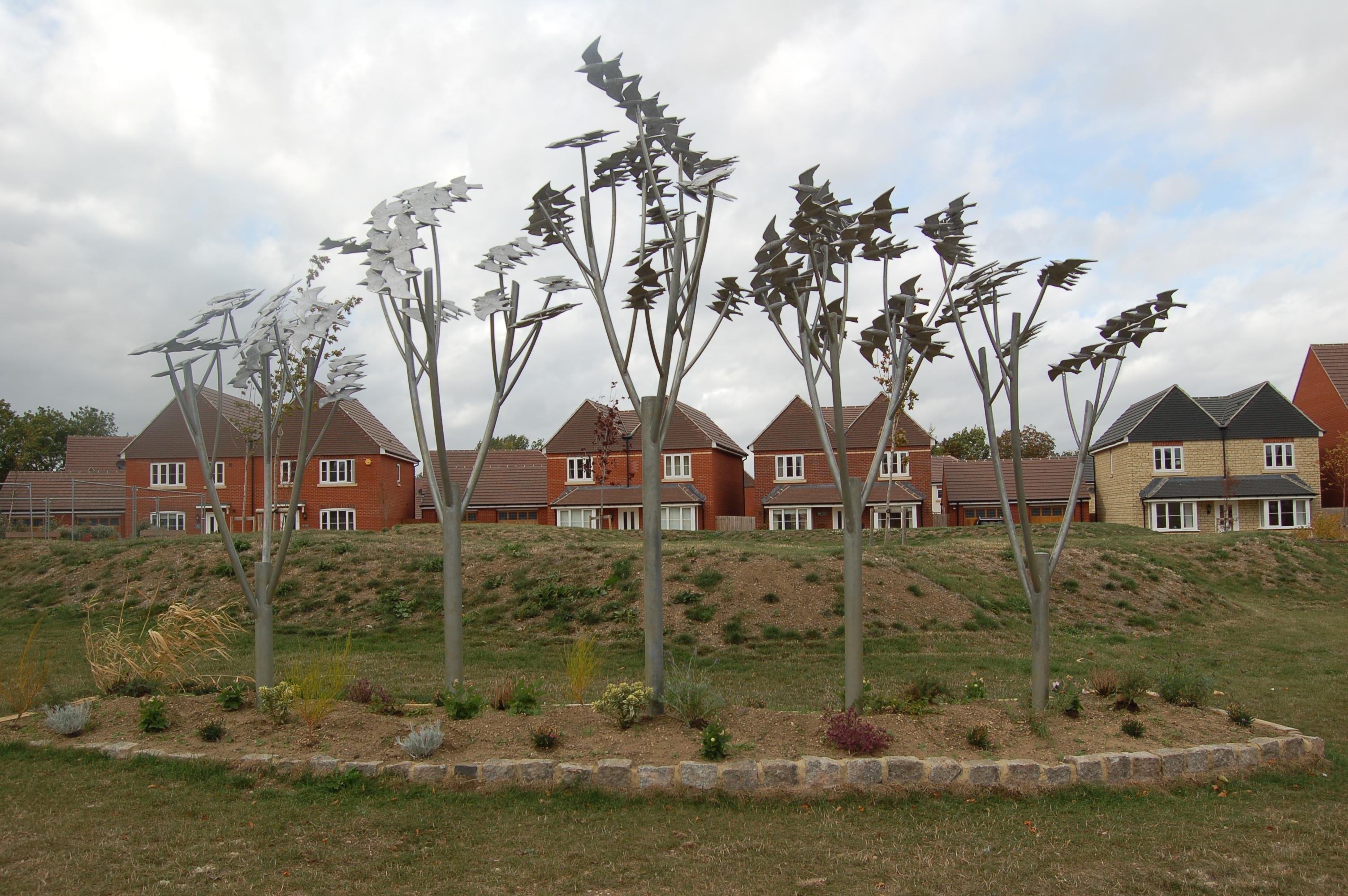 Murmuration of Starlings Oxford (1)